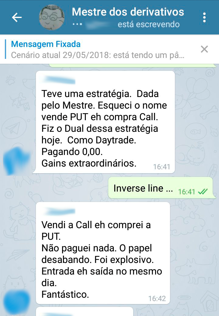 Sala Mestre dos derivativos no Telegram